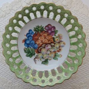 BETSON HAND PAINTED PEDASTAL COMPOTE DISH